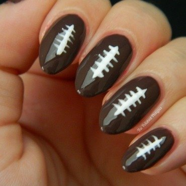 Football Nails nail art by Allie  Hartman