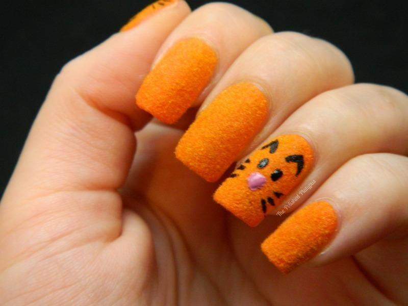 Flocking Powder Cat Nails nail art by Allie  Hartman