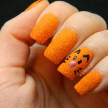 Flocking Powder Cat Nails nail art by Allie  Hartman