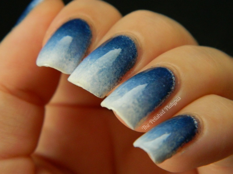 Blue White Gradient Nail Art By Allie Hartman Nailpolis