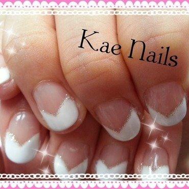 Simply White nail art by Karen