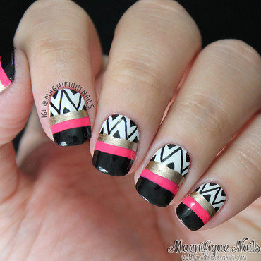 Patterned Nails nail art by Ana