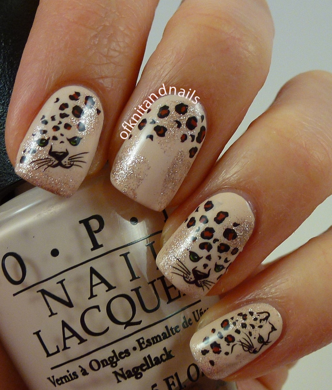 Cheetah Water Decals on Nude nail art by Julie - Cheetah Water Decals On Nude Nail Art By Julie - Nailpolis: Museum