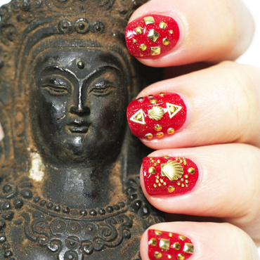 Bollywood nails nail art by Souchka