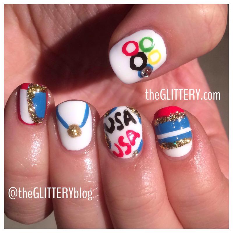 Go USA!  nail art by Ari  Fund