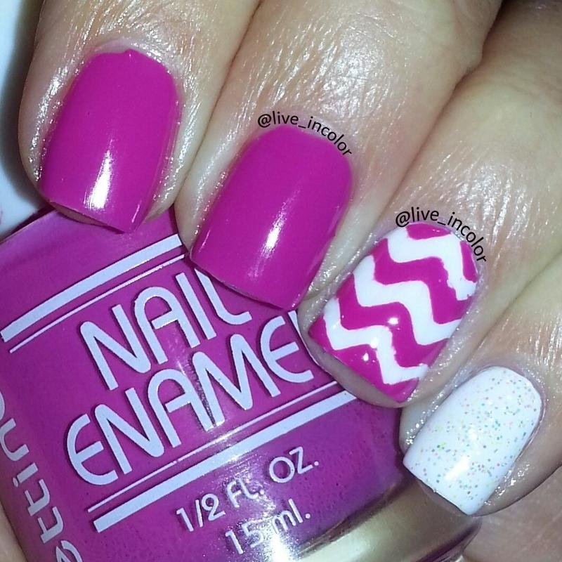 pink chevron!! nail art by kEElyN mARiN