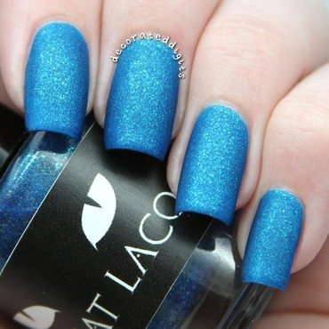 Essie Matte About You and Black Cat Lacquer Pisces Swatch by Jordan