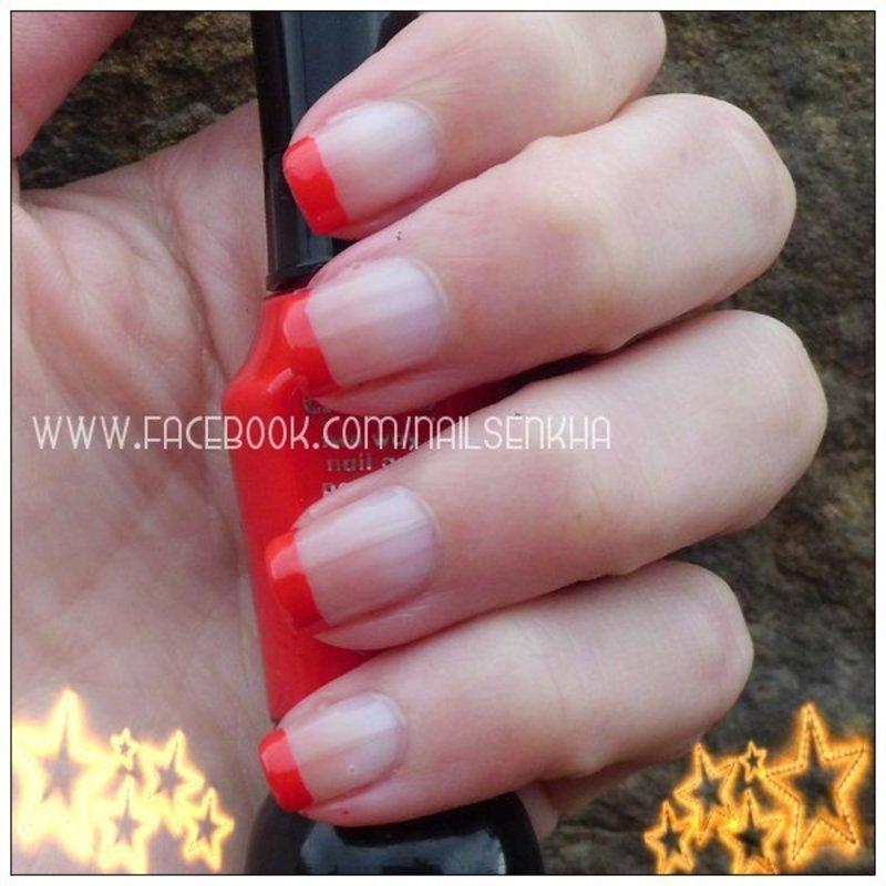 Francesa roja nail art by Nailsenkha