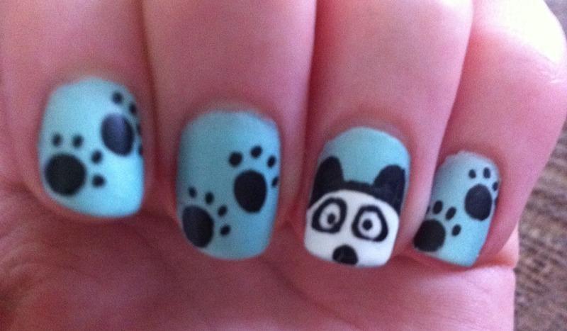 Panda Nails nail art by Whimsical Nails