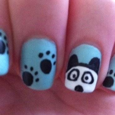 Panda Nails nail art by Whimsical Nails
