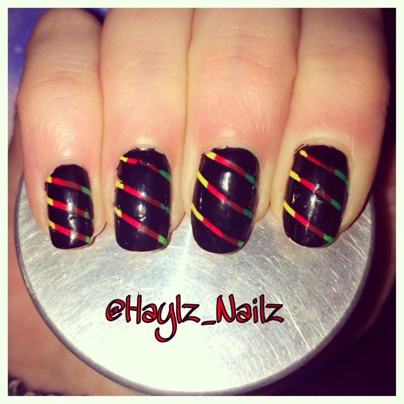 Rasta nail art by Hayley