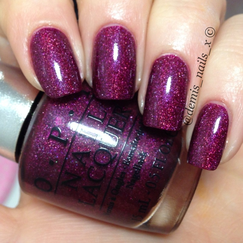 OPI extravagance and Glisten&Glow hk girl too coat Swatch by Demi Wilson