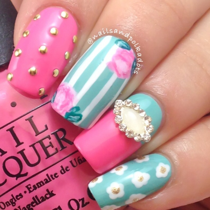 Mix & Match Nail Art nail art by Nailsandpolkadots