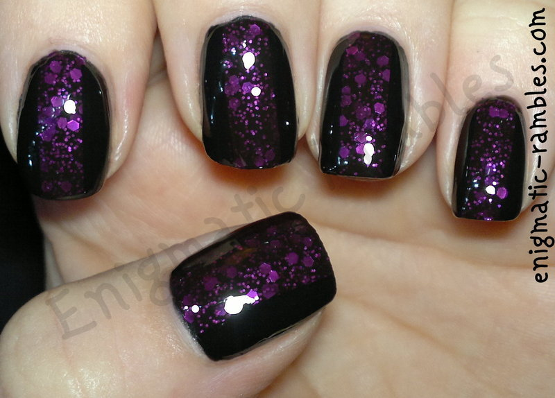 Facets of Fuchsia nail art by Enigmatic Rambles