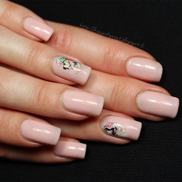 Geisha nail art by Yue