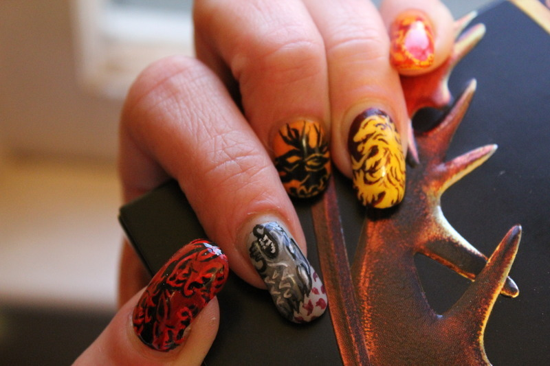 Game of Thrones house sigils nail art by Chrissy