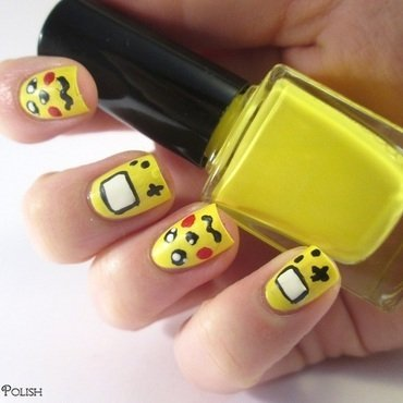 Pikachu game Boy nail art by Gang Of Polish