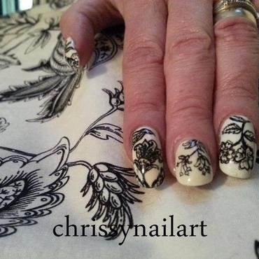 living room curtains nails nail art by Chrissy