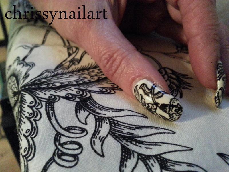 Living room curtain nail art nail art by Chrissy