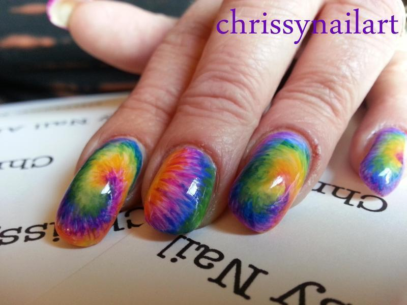 Colorful tie dye nail art by Chrissy - Colorful Tie Dye Nail Art By Chrissy - Nailpolis: Museum Of Nail Art