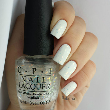OPI Lights of Emerald City and Mavala White Swatch by Olga Styazhkina
