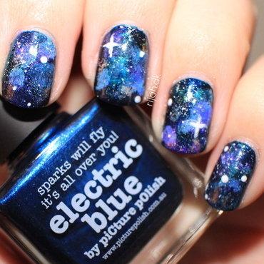 Galaxy nail art nail art by Maria Marker