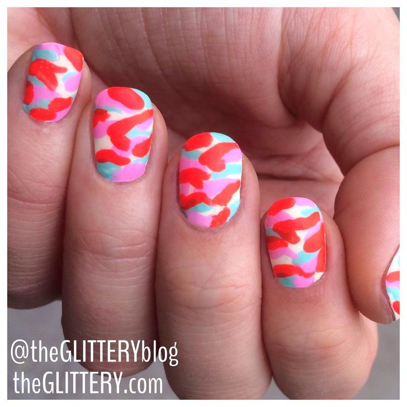 Matte Rainbow Camouflauge!  nail art by Ari  Fund