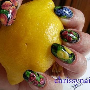 Summer fruits nail art by Chrissy
