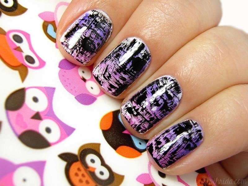 Distressed Nails nail art by nihrida