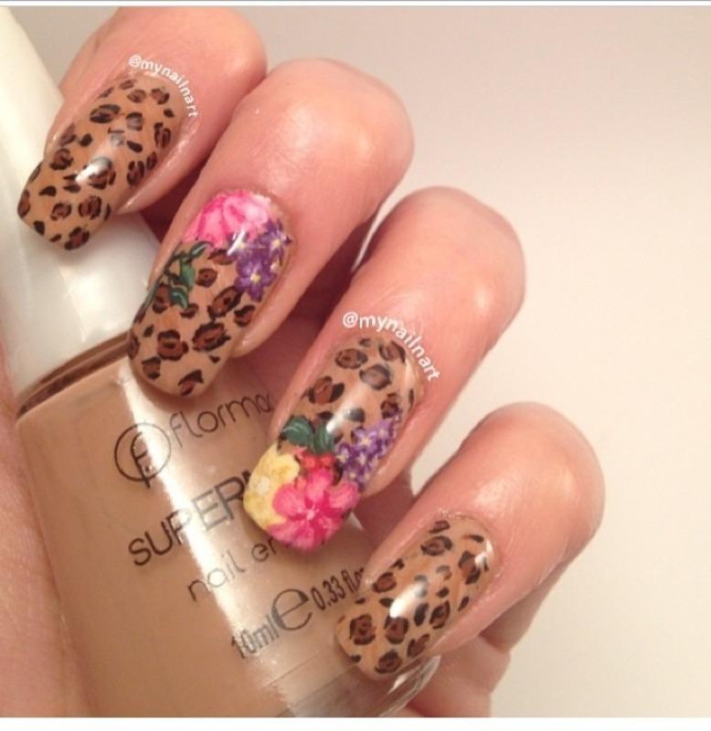 Roar nail art by mynailnart