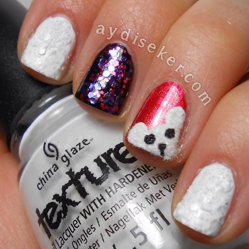 Snow Buddy nail art by Aydi Seker