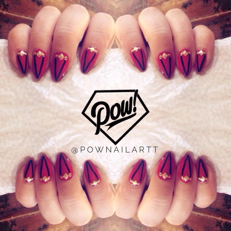 V thangs nail art by Pownailart