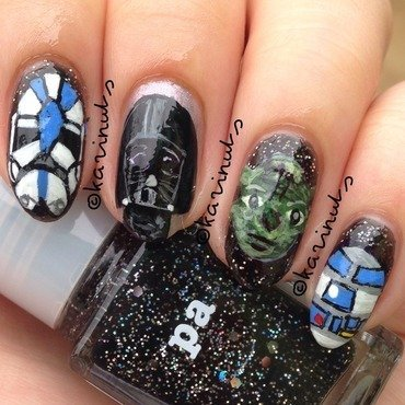 Star wars nails nail art by Karina Mahardi