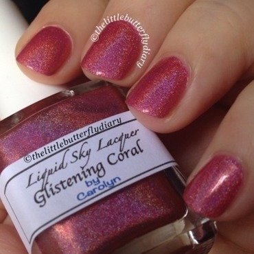 Liquid Sky Lacquer Glistening Coral Swatch by Juliet