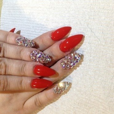 Bedazzled with a pinch of crystals nail art by phuckurnailz