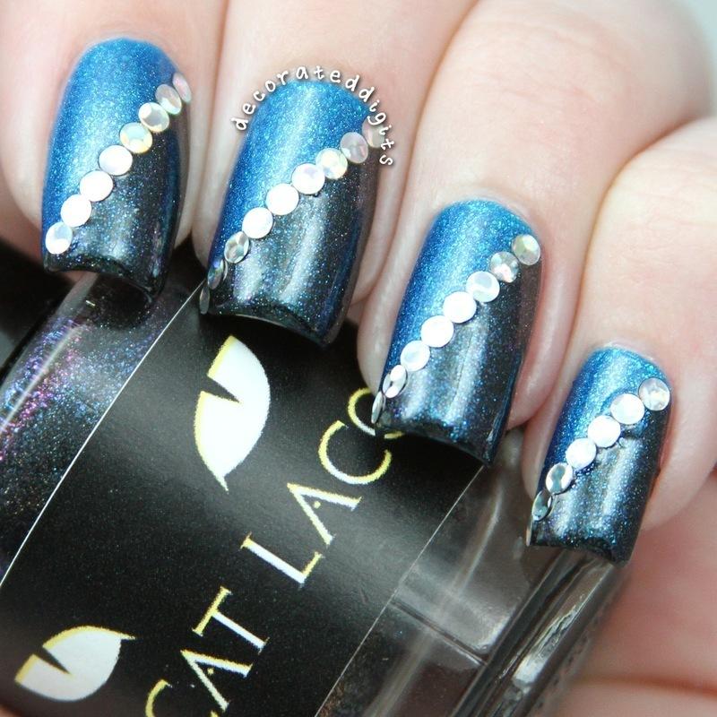 Holosplit nail art by Jordan