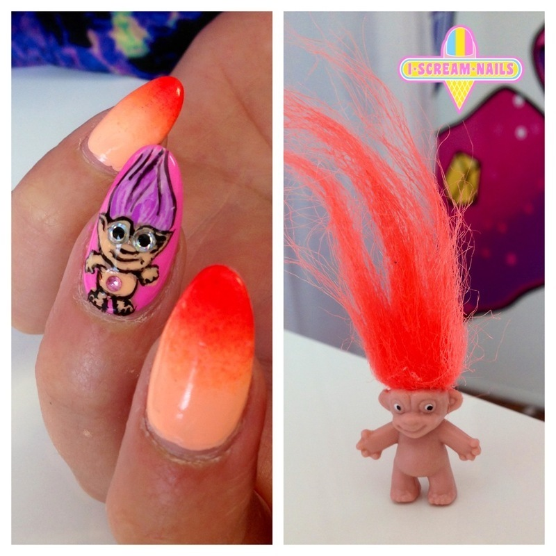Troll Doll Nail Art By I Scream Nails Nailpolis Museum Of Nail Art