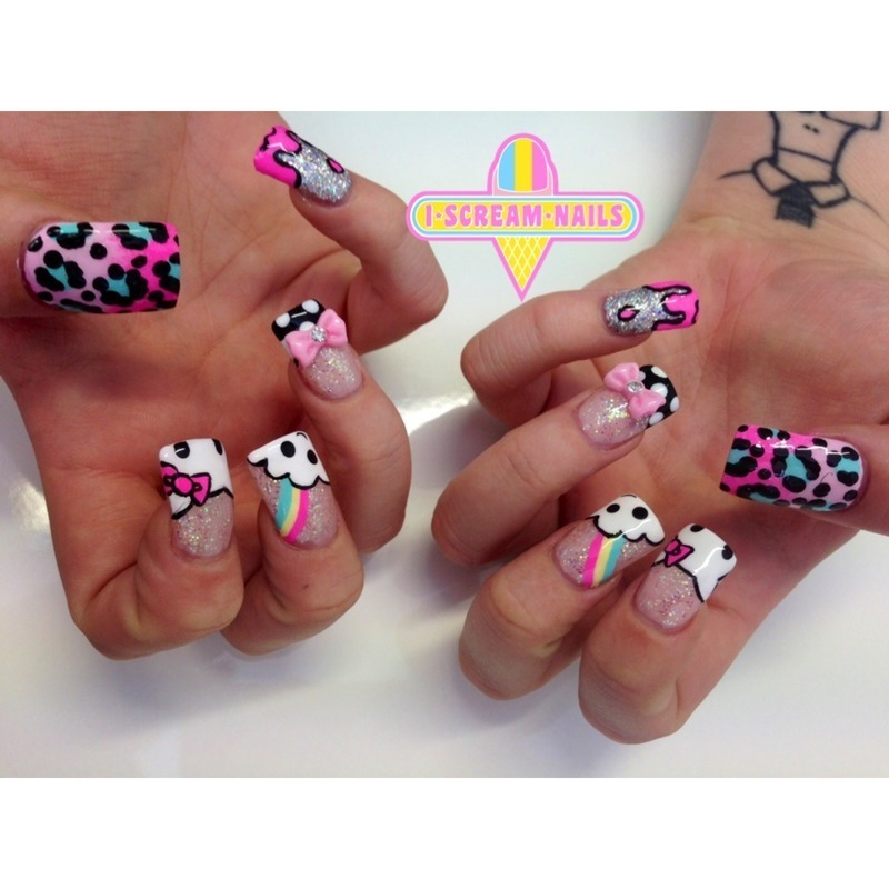 Adorbs x 100 nail art by I Scream Nails
