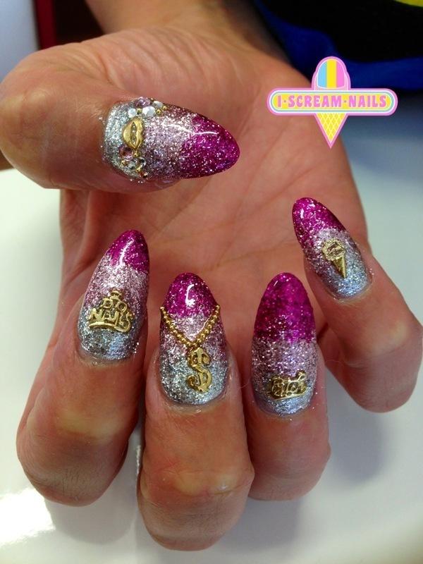 Bling city nail art by I Scream Nails