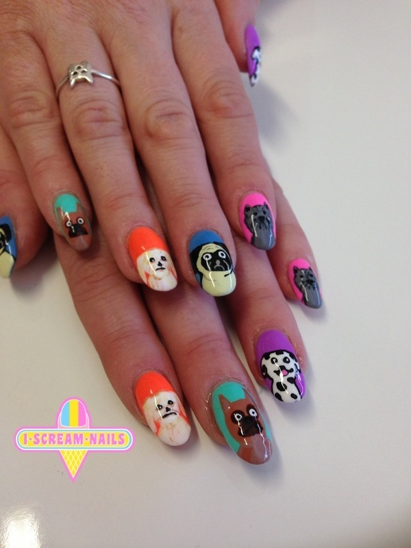 Woof Woof Nail Art By I Scream Nails Nailpolis Museum Of Nail Art