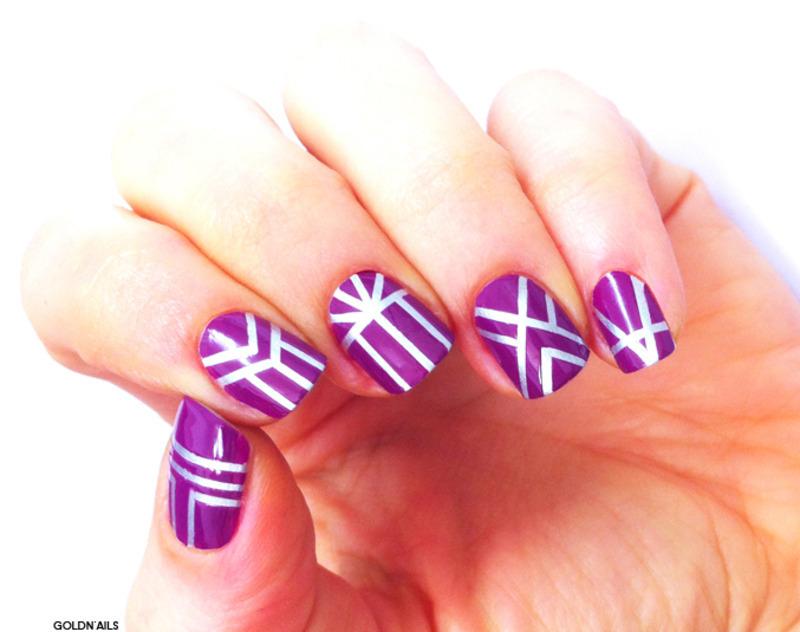 Art Deco Nails nail art by Goldi