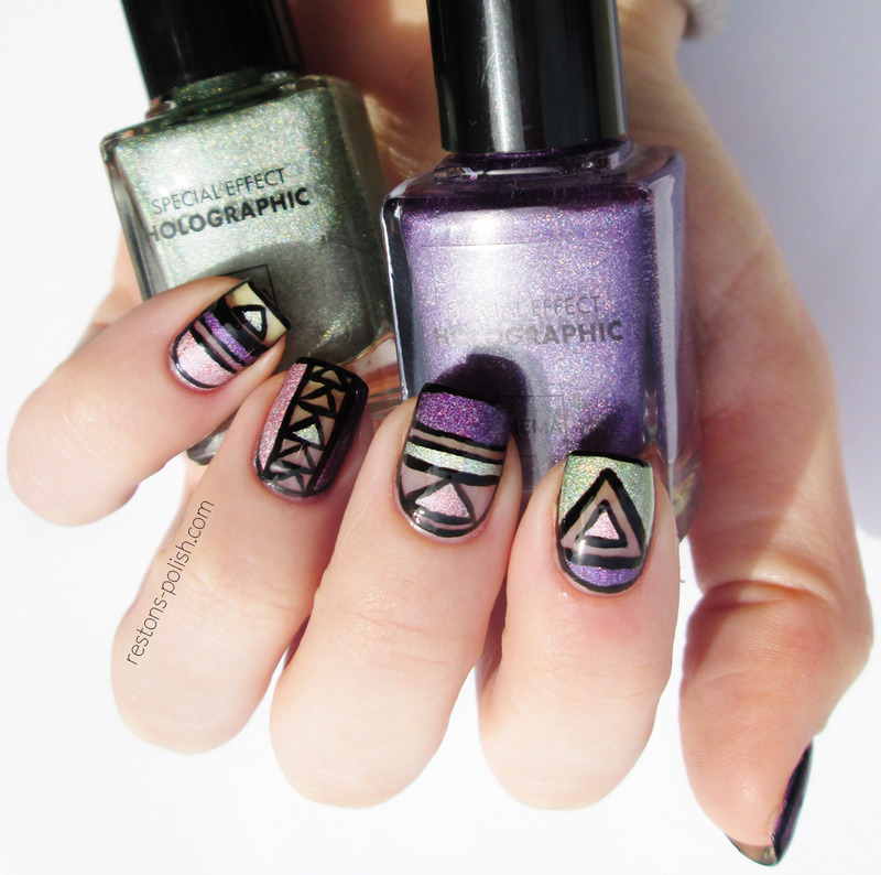 Cut out nails nail art by Restons polish
