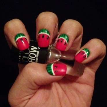 Watermelons nail art by Nails by KC