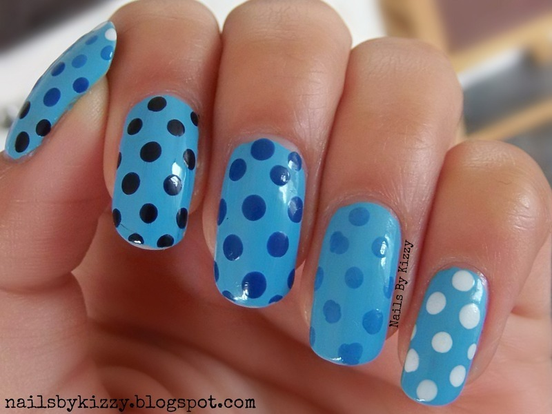 Gradient Dots! nail art by Kizzy