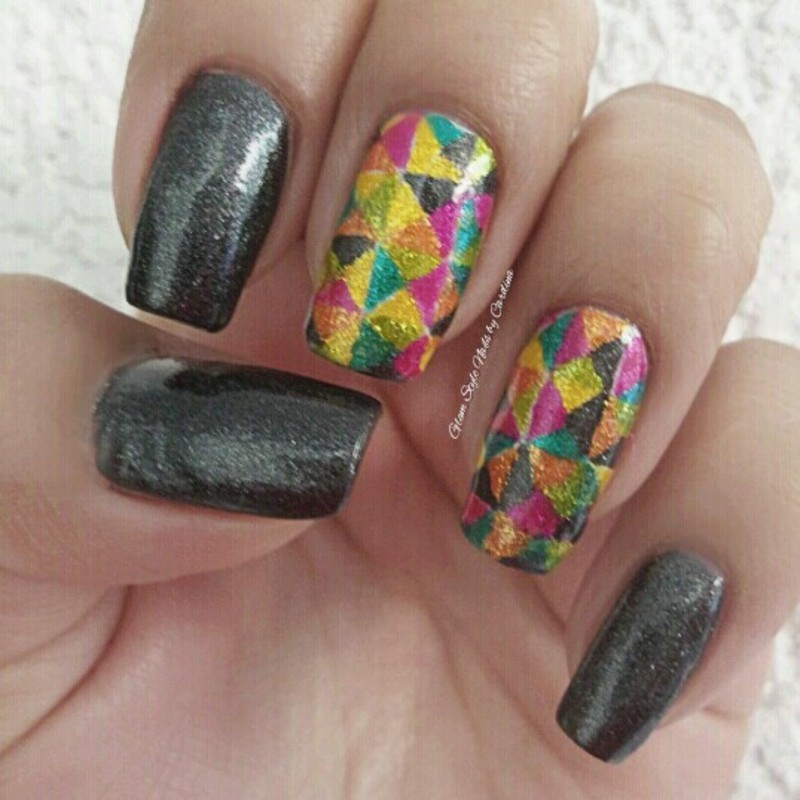 SHINNY MOSAIC nail art by Glam Style Nails by Carolina