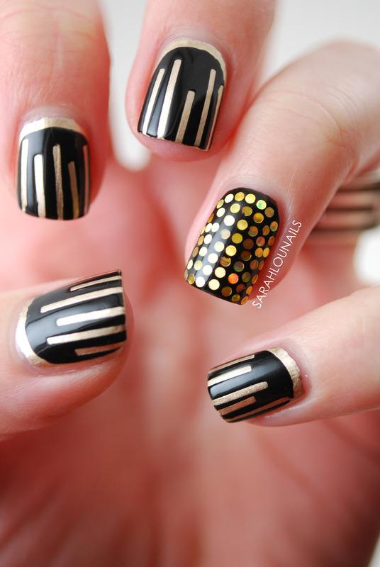New Years Mani! nail art by Sarah S