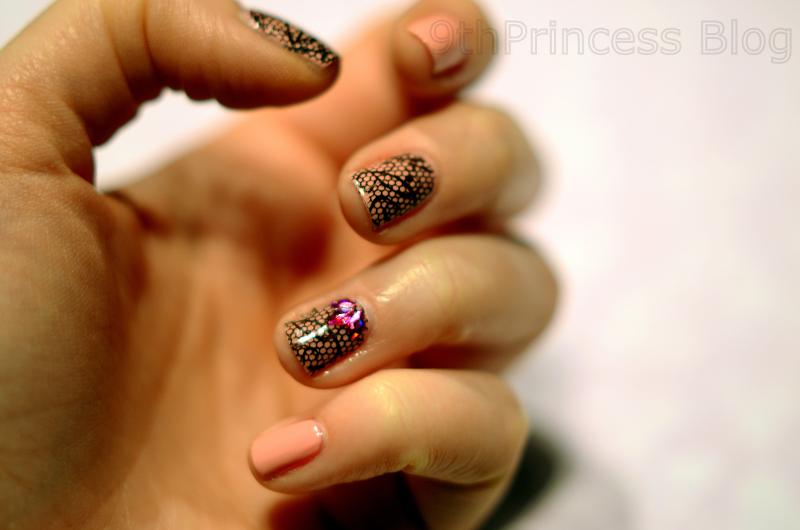 Lace nail art by 9th Princess