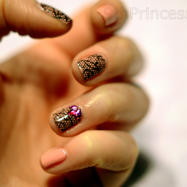 Lace nail art by 9th Princess