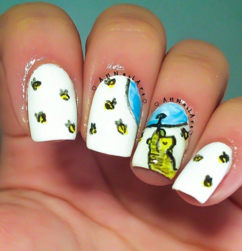Winnie The Pooh Nails Nail Art By Ah Nail Art Nailpolis Museum Of