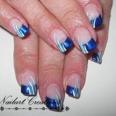 Blue fantasy Nailart nail art by Nailart Creations